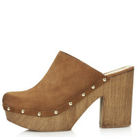 SMOCK Leather Mule Clogs - Tan