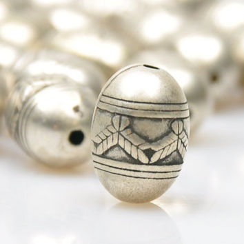5 Pieces Matte Silver Ball Spacer Beads, Silver Plated Jewelry Spacers, Jewelry Findings, Jewelry Making Supply