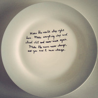 Wuthering Heights &#x27;make the moors never change&#x27; plate by MrTeacup