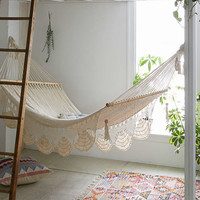 Macrame Hammock- White One