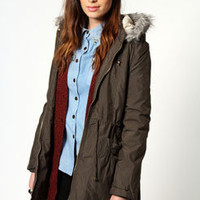 Sasha Padded Fur Trim Hooded Parka