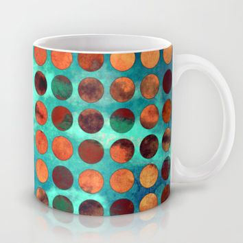 MELANGE of Cyan and Rust Mug by Pia Schneider [atelier COLOUR-VISION]