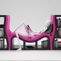 Book Shelves with a Bench