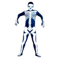 Full Body Royal Blue with White Skeleton Fancy Dress for Halloween Costume Lycra Spandex Back Zipper Zentai Suit [TWL1112220471] - 28.19 : Zentai, Sexy Lingerie, Zentai Suit, Chemise