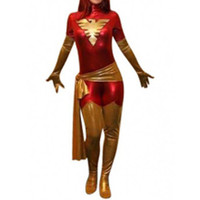 Full Body Without Hood Red Phoneix Shiny Metallic Fancy Dress for Halloween Superhero Fancy Dress Costume [TQL1205220031] - 24.59 : Zentai, Sexy Lingerie, Zentai Suit, Chemise
