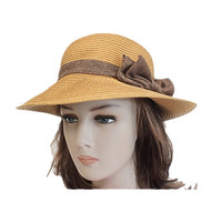 Gold medium brim summer floppy women
