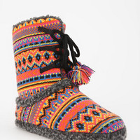 Fair Isle Slipper-Sock Boot