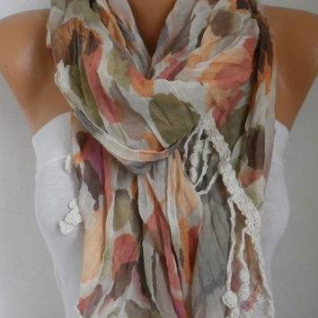 Spring Celebrations Fashion Scarf Valentine's Day Gift Shawl Cowl Scarf Cotton Gift Ideas For Her Women's Fashion Accessories