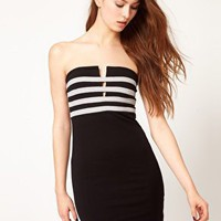 Motel Bandeau Bodycon Dress at asos.com