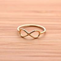 simple INFINITY ring, 2 colors | girlsluv.it - handmade jewelry collection, ETSY, Artfire, Zibbet, Earrings, Necklace