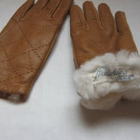SOLD! Leather Gloves by Stretchies