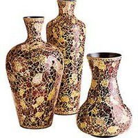 Pier 1 Imports - Product Details - Red &amp; Gold Mosaic Vases