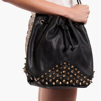 Bit of Edge Bucket Bag $42