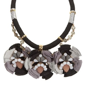 Cara Fabric and Crystal Collar Necklace at Von Maur