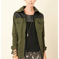 Jet by John Eshaya - Safari Jacket With Leather Trim