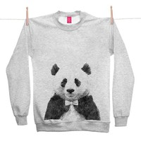 Street Market  Ohh Deer - Zhu - Grey Sweater By Jamie Mitchell