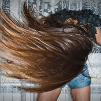 R U S T I C  auburn brunette /ombre / human hair extension/ clip-in hair wefts/  (8) hair extensions