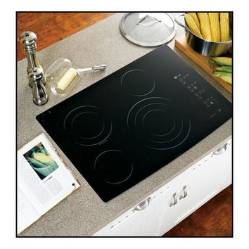 "GE Appliance - 30"" Built-In Electric Cooktop - Black"
