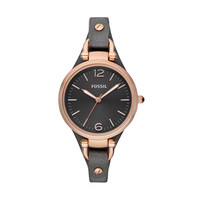 FOSSIL® Watch Collections Georgia Watches: Georgia Leather Watch – Smoke and Rose ES3077