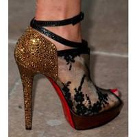 Christian Louboutin Bridget Strass Pumps