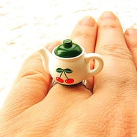 Teapot Ring Kawaii by SouZouCreations on Etsy