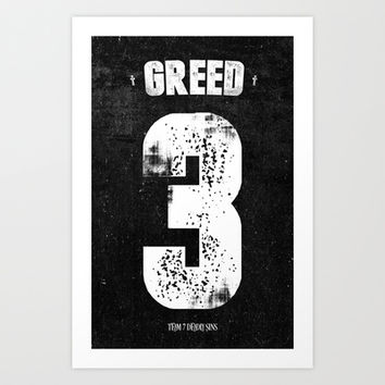 7 Deadly sins - Greed Art Print by HappyMelvin