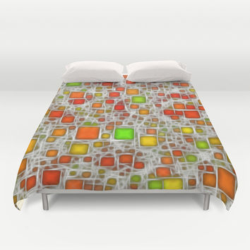 Ceramics Citrus Duvet Cover by Alice Gosling