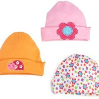 Lamaze Baby-Girls Newborn 3 Pack Flower Ladybug Interlock Cap $12.00 - $16.00