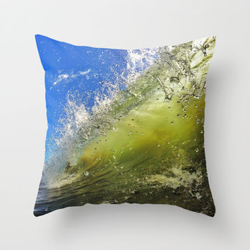 Surf Throw Pillow by Nicklas Gustafsson