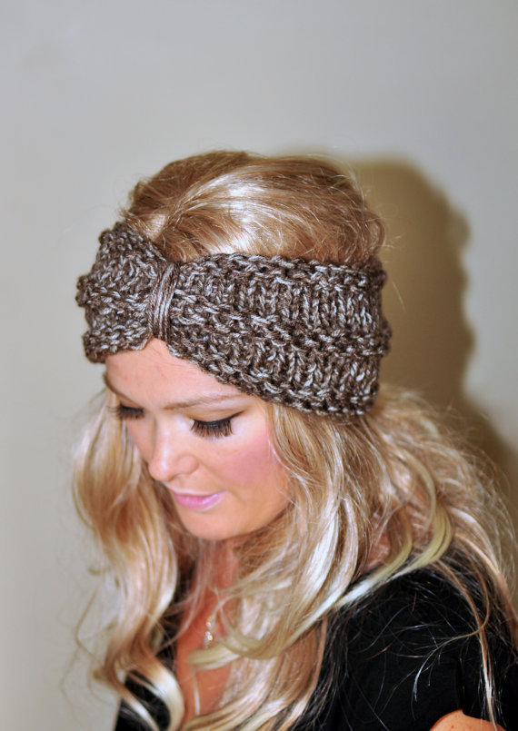 Free Crochet Pattern For Turban Headband : Turban Headband Crochet Head wrap Knit from lucymir on Etsy