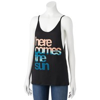 About A Girl ''Here Comes The Sun'' Tank - Juniors
