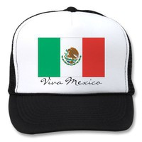 mexican flag, Viva Mexico Trucker Hats from Zazzle.com