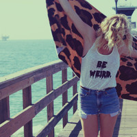 Unraveled 'Be Weird' Racerback Tank