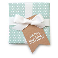 "Kraft ""Happy Birthday"" Gift Tags"