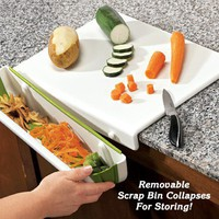 Cutting Board with Scrap Bin - Fresh Finds - Kitchen > Food Prep