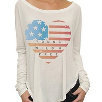 Junk Food Clothing - Women's Tops - All - Young, Wild, and Free Young Rebel Tee