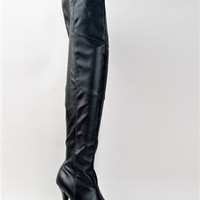 Qupid PERSIST-29A Thigh High Leatherette Boot | Shop Qupid Shoes
