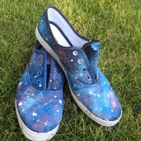 Galaxy Canvas Shoes Blue  Stars