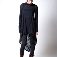 NEW Tunic / Loose Fitting Top / Assymetrical Blouse / Long Sleeve Tunic - MB103