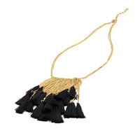 Tasseled Chain Fringe Necklace