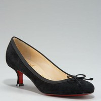 christian louboutin Bow Toe Suede Pump - $228.00