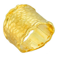I. Reiss Gallery Gold Hammered Band Ring - Max & Chloe