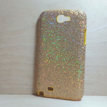 For Samsung Galaxy Note 2 Gold Glitter Case