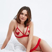 For Love & Lemons Blair Triangle Thong in Red - Urban Outfitters