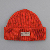 Nigel Cabourn : Plain Beanie Hat (Orange) from Oi Polloi