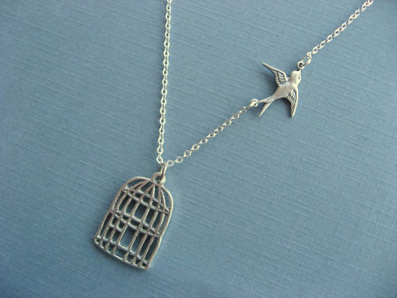 Be Free Sparrow Necklace by DevinMichaels on Etsy