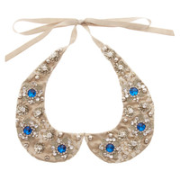 ASOS Embellished Stone Floral Collar at asos.com
