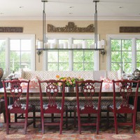 eclectic seating, dining room