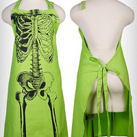 Spooky X-Ray Skeleton Bones Apron | PLASTICLAND