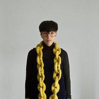 The Yokoo Bronx Dookie Chain Scarf in Citron